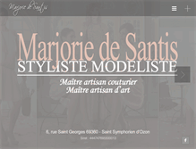 Tablet Preview of marjoriedesantis.fr
